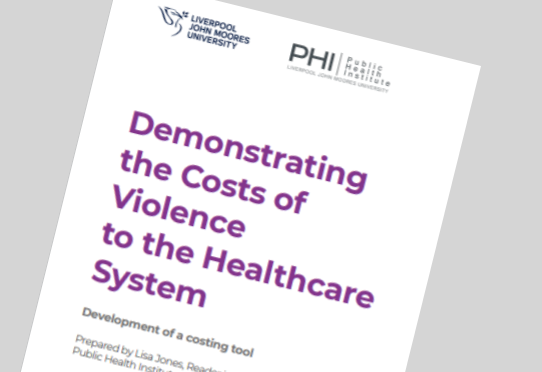 Costs of violence report cover