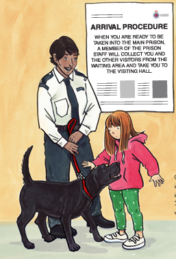 Mia's Story page - visiting Dad