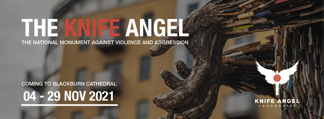 The Knife Angel, national monument against violence and aggression. Coming to Blackburn Cathedral 4-29 November 2021