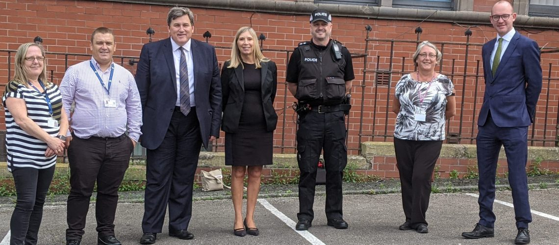 Project ADDER team with Police and Crime Minister Kit Malthouse and PCC Andrew Snowden